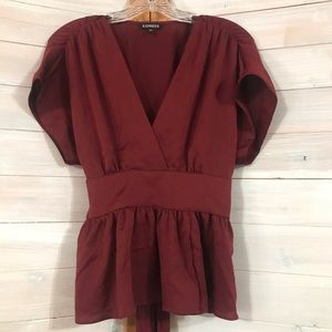 Dark Red Express Blouse